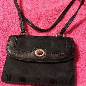 Black Coach crossbody small purse